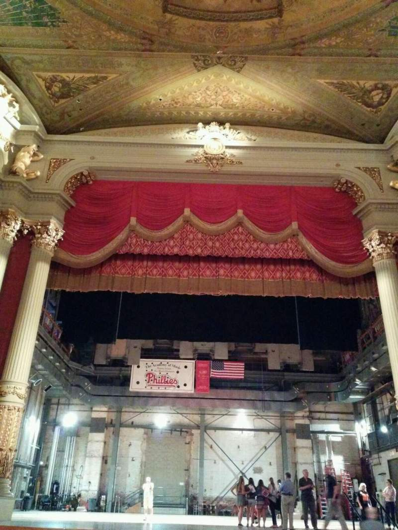 Seating view for Academy of Music Section Parquet Row G Seat 109