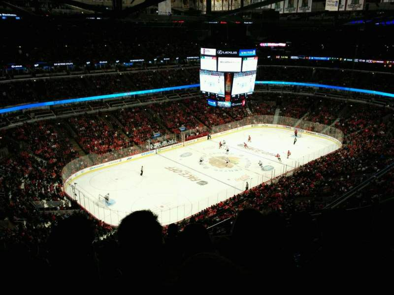 Seating view for United Center Section 322 Row 14 Seat 5