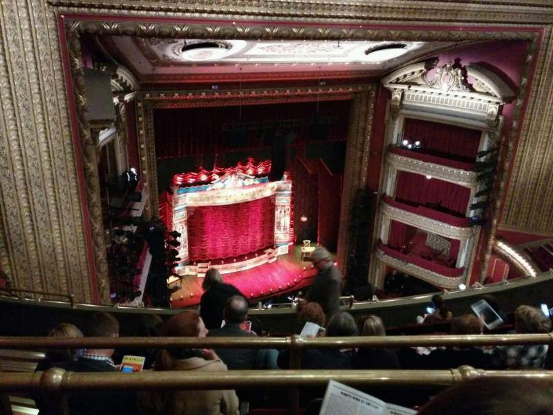 Seating view for PrivateBank Theatre Section balcony l Row j Seat 8