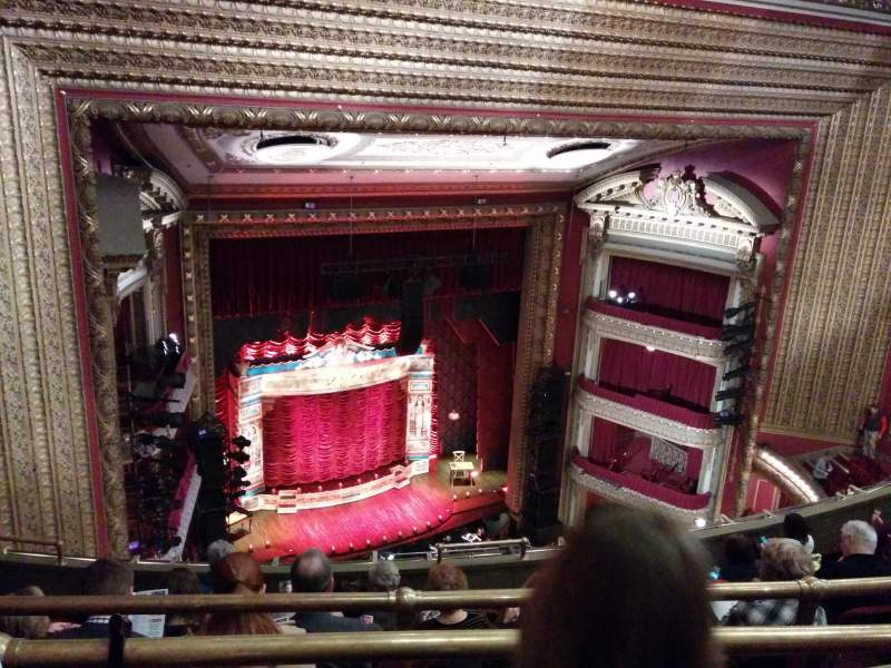 Seating view for PrivateBank Theatre Section balcony l Row j Seat 9