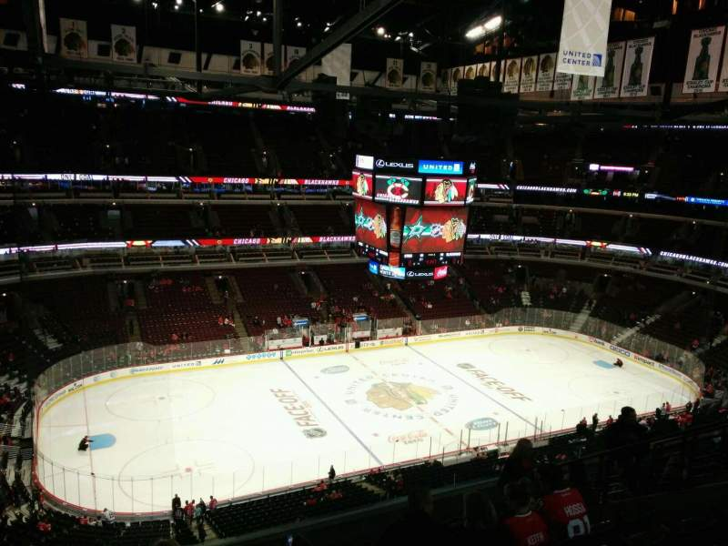 Seating view for United Center Section 320 Row 12 Seat 14
