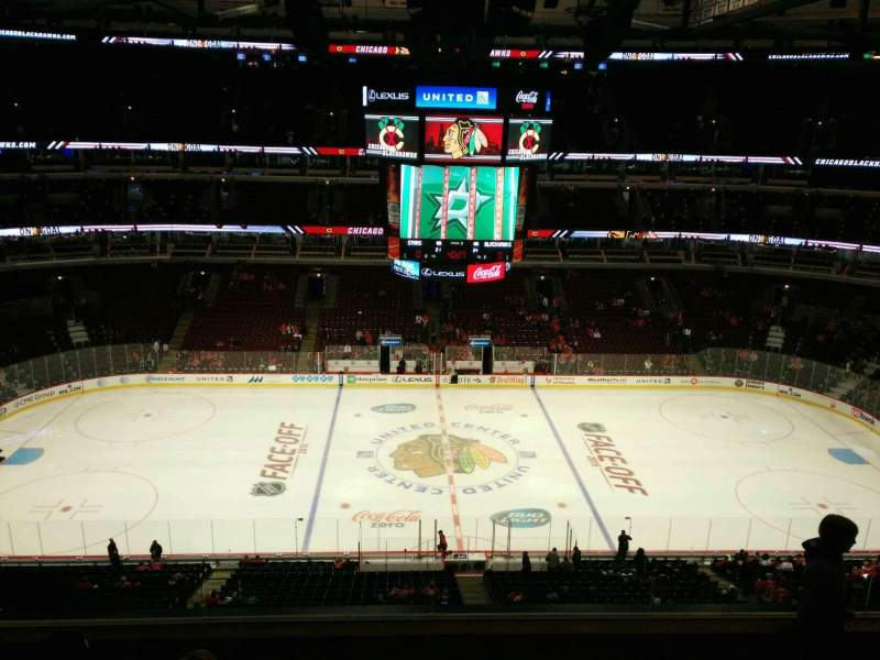 Seating view for United Center Section 318 Row 6 Seat 3