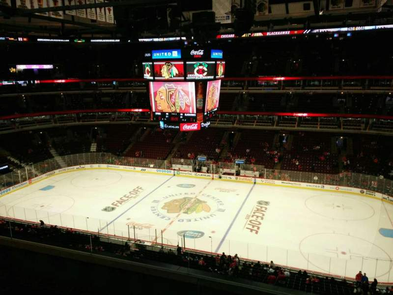 Seating view for United Center Section 316 Row 5 Seat 5