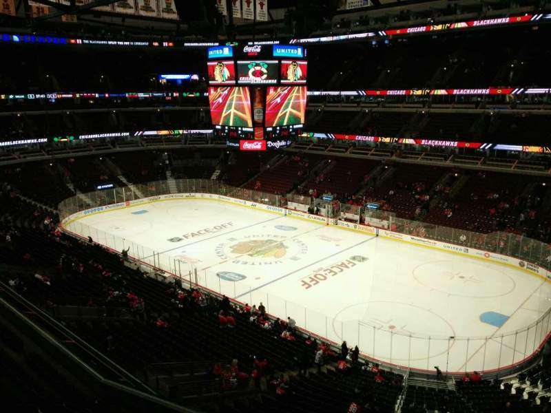 Seating view for United Center Section 315 Row 1 Seat 5