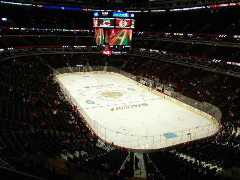 Seating view for United Center Section 312 Row 1 Seat 1