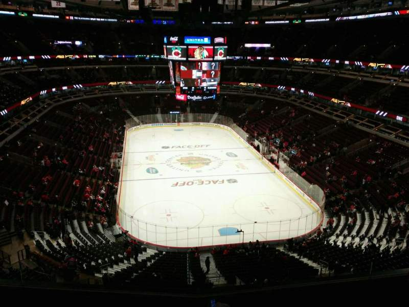 Seating view for United Center Section 310 Row 6 Seat 8