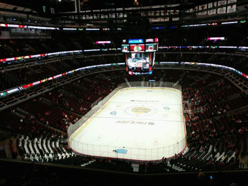 Seating view for United Center Section 308 Row 9 Seat 10