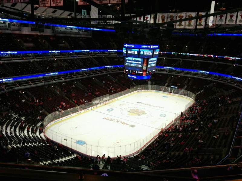 Seating view for United Center Section 306 Row 11 Seat 14