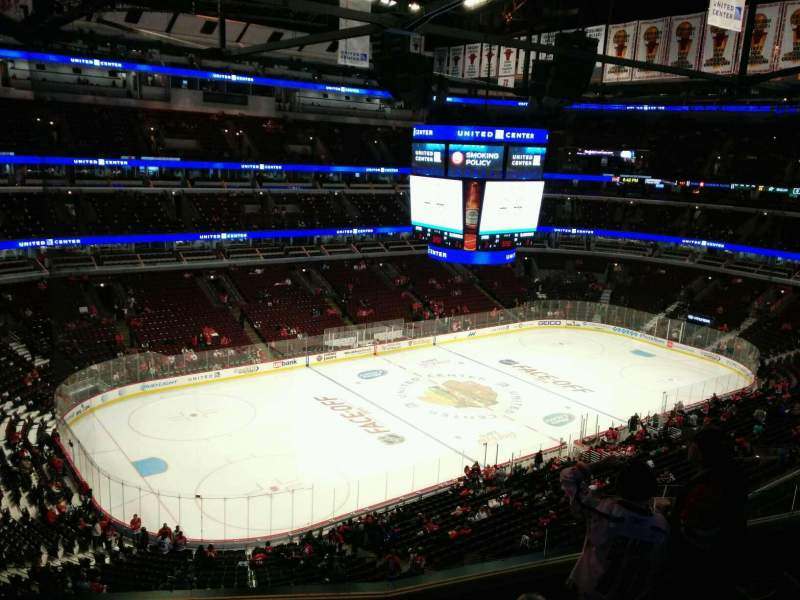 Seating view for United Center Section 304 Row 6 Seat 10