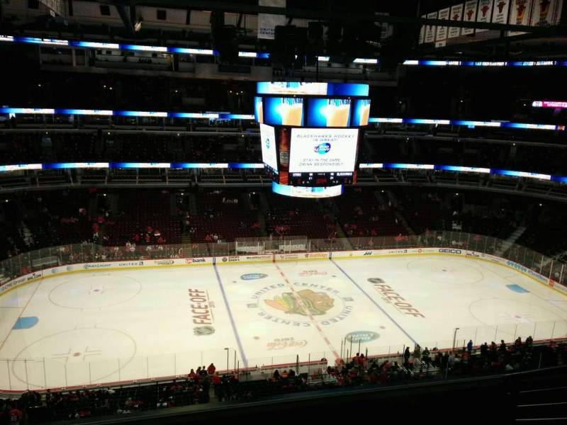 Seating view for United Center Section 302 Row 7 Seat 3