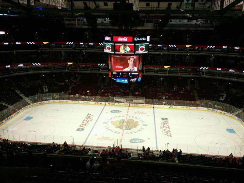 Seating view for United Center Section 334 Row 12 Seat 12