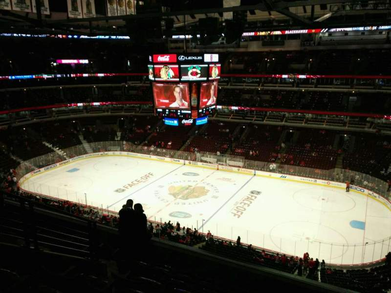 Seating view for United Center Section 332 Row 8 Seat 9