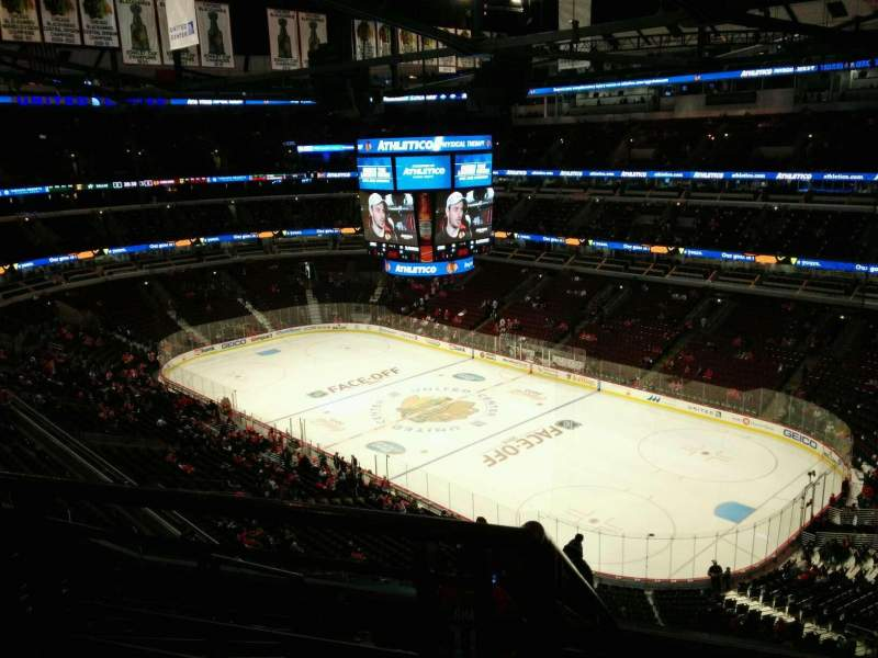 Seating view for United Center Section 330 Row 9 Seat 19