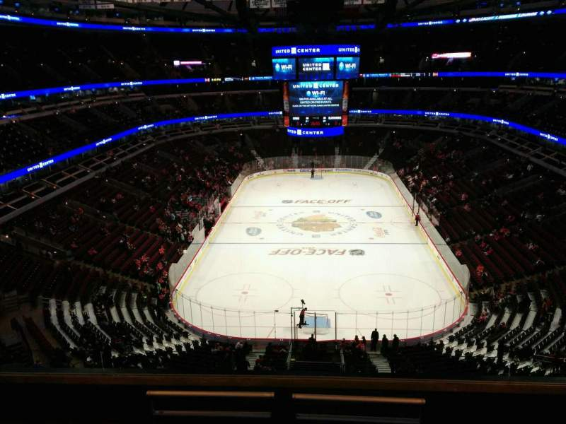 Seating view for United Center Section 326 Row 6 Seat 5