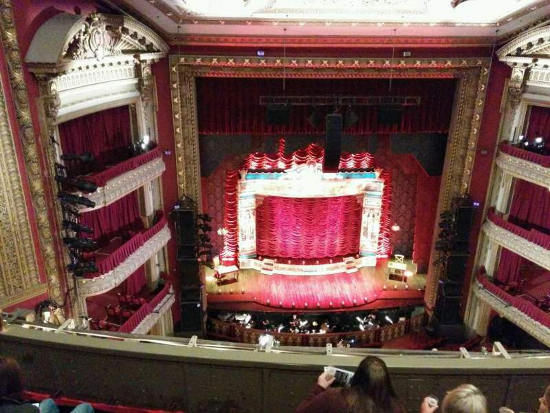 Seating view for PrivateBank Theatre Section Balcony LC Row e Seat 411