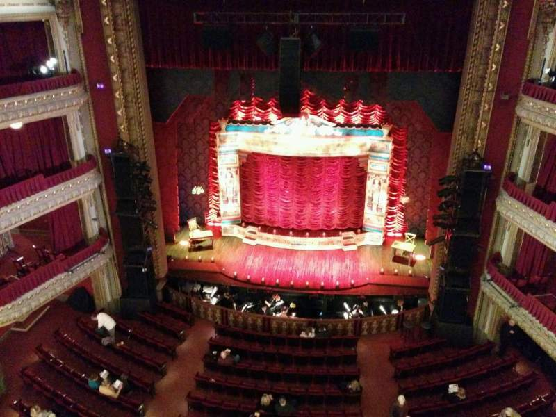 Seating view for PrivateBank Theatre Section BALC-RC Row a Seat 406