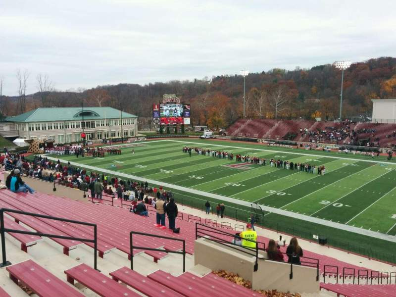 Seating view for Fisher Stadium Section 2 Row nn Seat 26