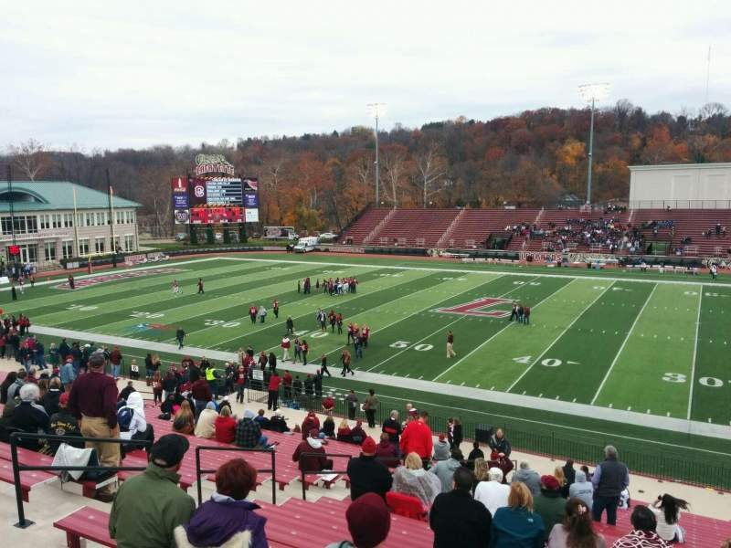 Seating view for Fisher Stadium Section 4 Row cc Seat 15