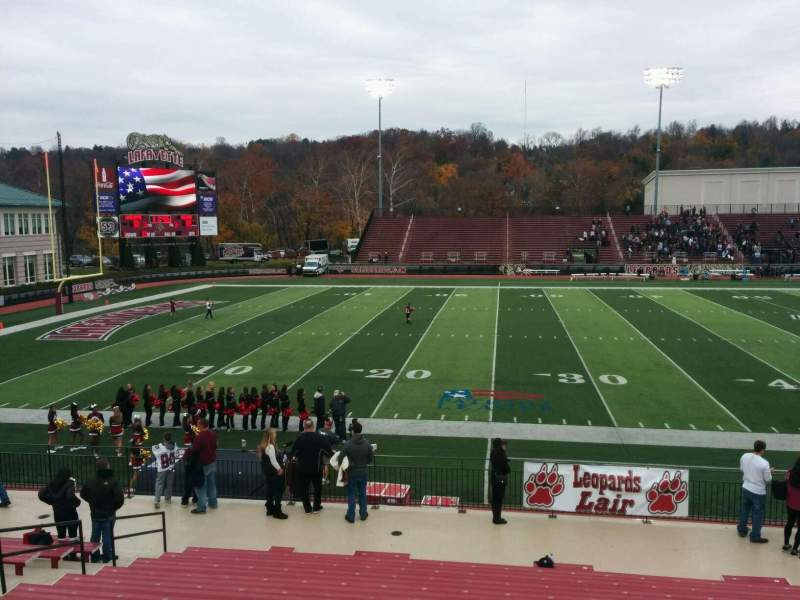 Seating view for Fisher Stadium Section 7 Row p Seat 17