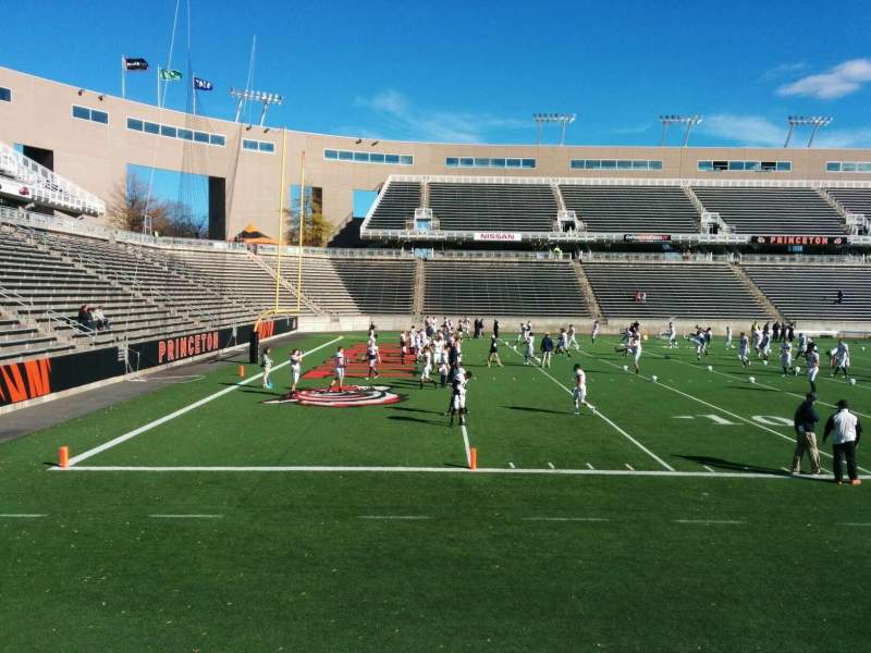 Seating view for Princeton Stadium Section 11 Row 6 Seat 17