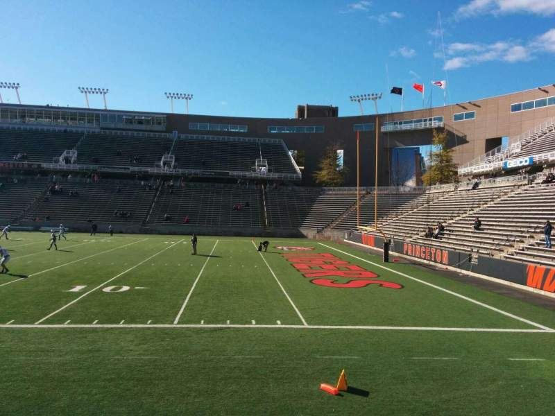 Seating view for Princeton Stadium Section 22 Row 6 Seat 12