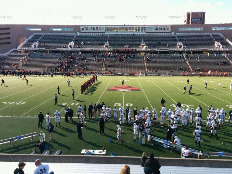 Seating view for Princeton Stadium Section 26 Row 17 Seat 20