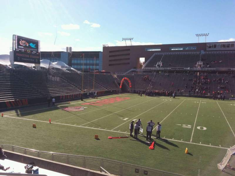 Seating view for Princeton Stadium Section 29 Row 13 Seat 15