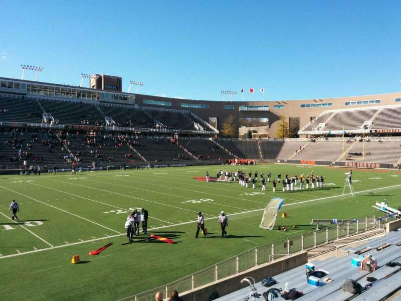 Seating view for Princeton Stadium Section 31 Row 12 Seat 11