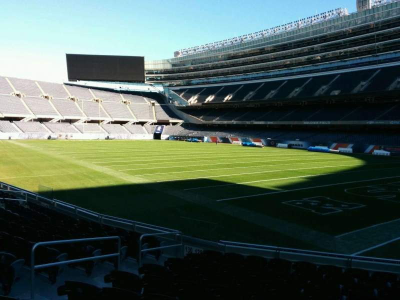 Seating view for Soldier Field Section 128 Row 11 Seat 7