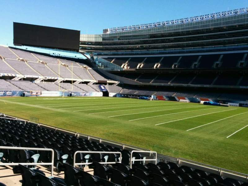 Seating view for Soldier Field Section 134 Row 11 Seat 8