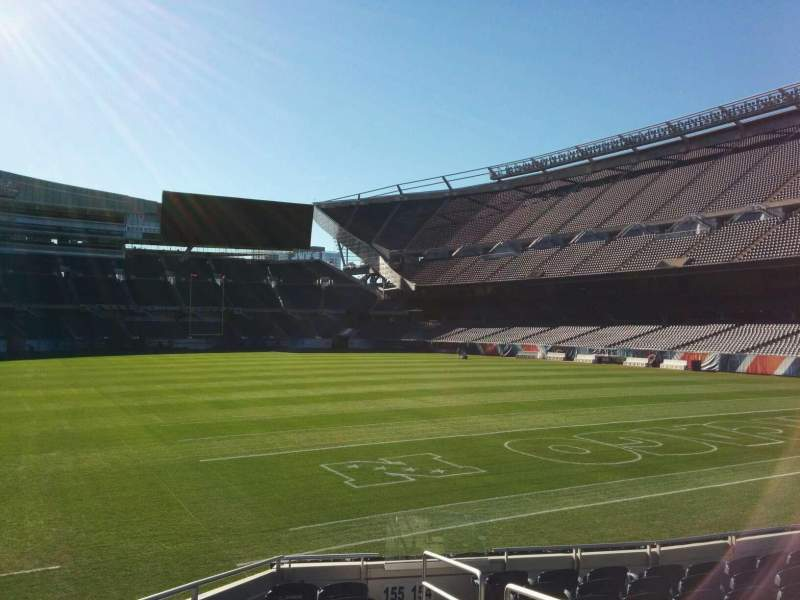 Seating view for Soldier Field Section 155 Row 10 Seat 18