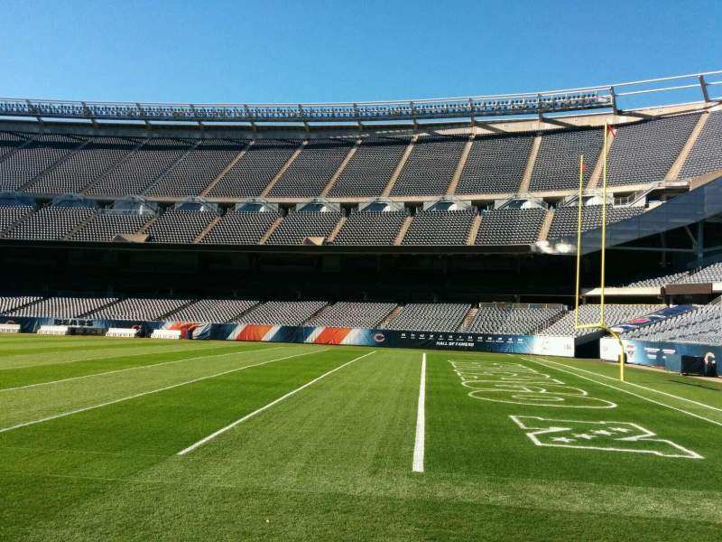 Seating view for Soldier Field Section 104 Row sideline Seat 6
