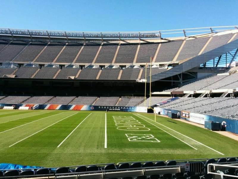 Seating view for Soldier Field Section 104 Row 10 Seat 8