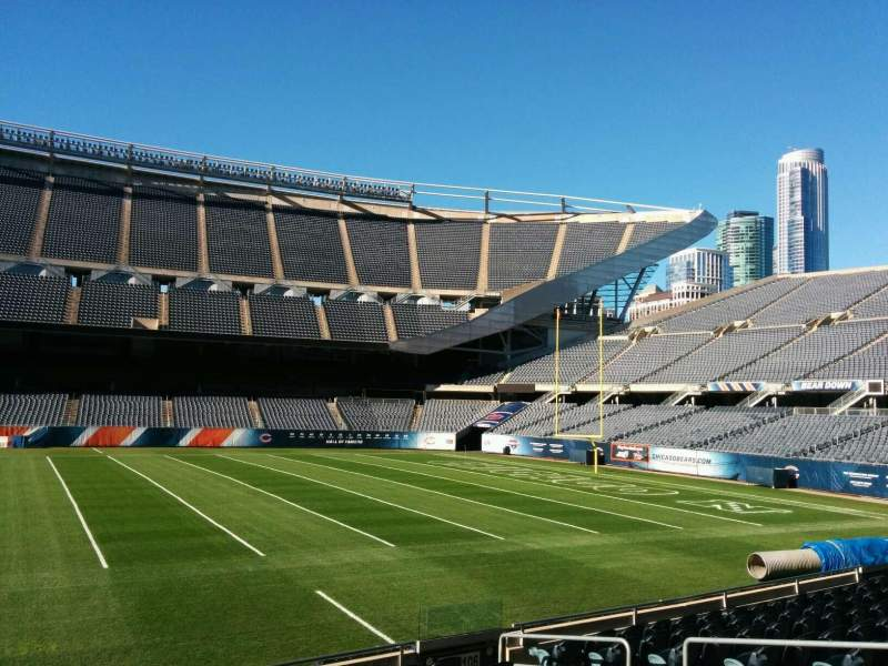 Seating view for Soldier Field Section 107 Row 10 Seat 8