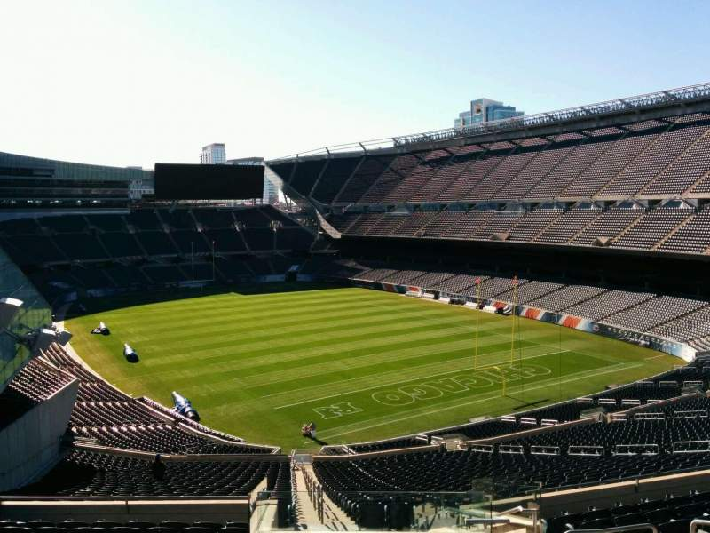 Seating view for Soldier Field Section 356 Row 12 Seat 10