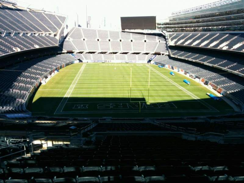 Seating view for Soldier Field Section 423 Row 3 Seat 7