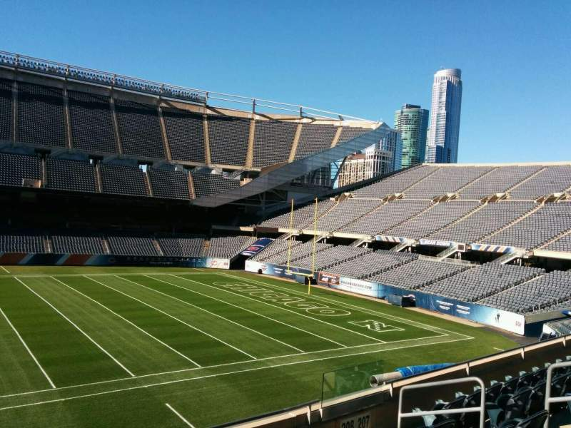 Seating view for Soldier Field Section 208 Row 6 Seat 10