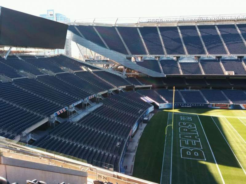 Seating view for Soldier Field Section 314 Row 11 Seat 10