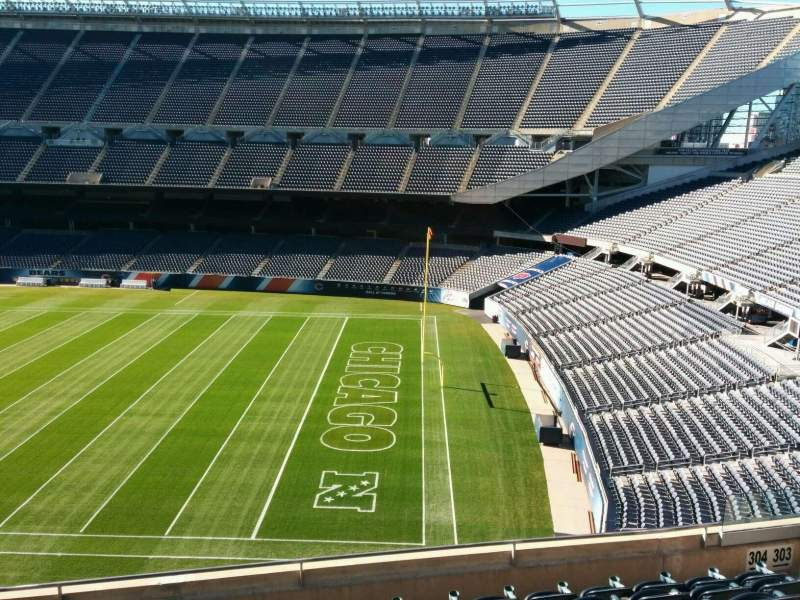 Seating view for Soldier Field Section 304 Row 8 Seat 8