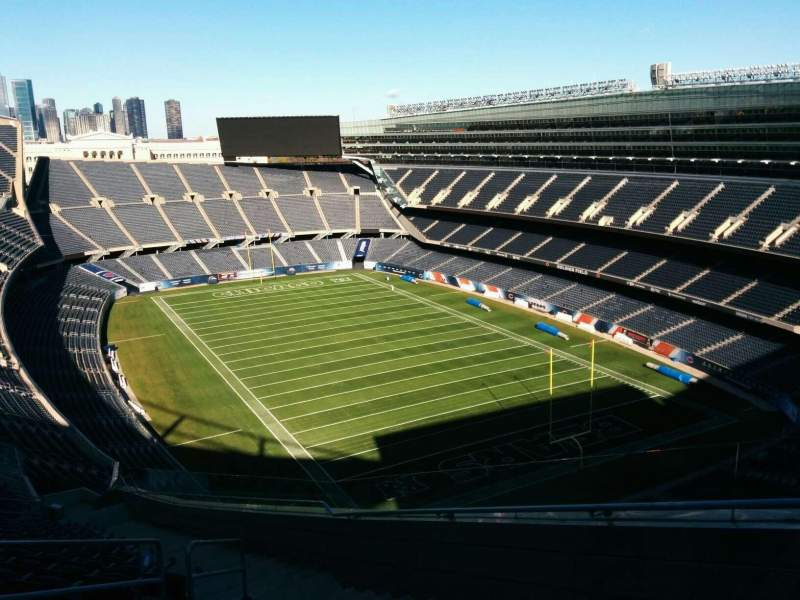Seating view for Soldier Field Section 427 Row 23 Seat 5