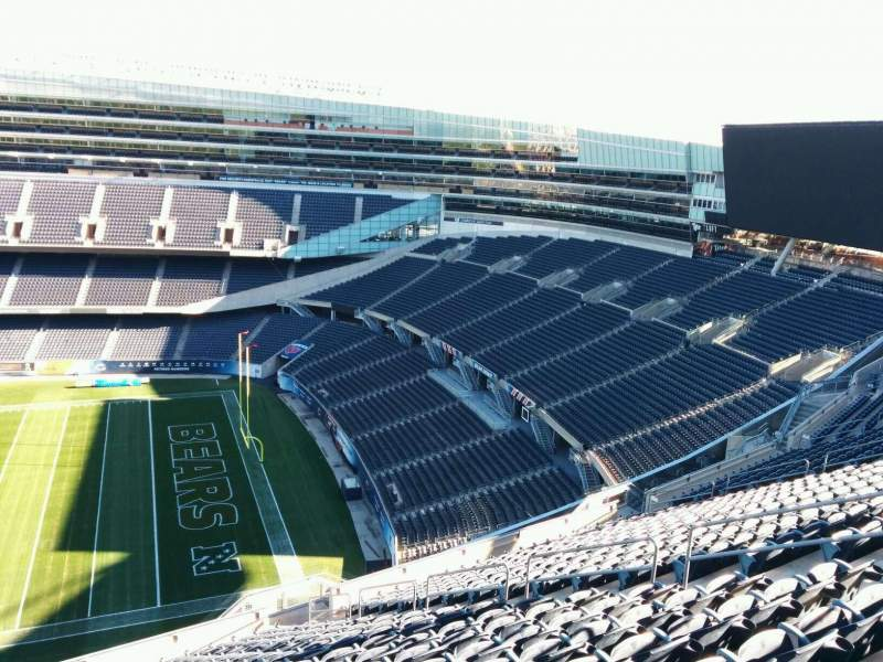 Seating view for Soldier Field Section 433 Row 19 Seat 10