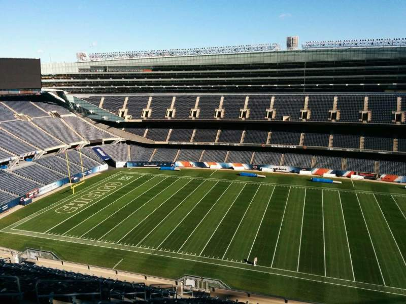 Seating view for Soldier Field Section 435 Row 19 Seat 10