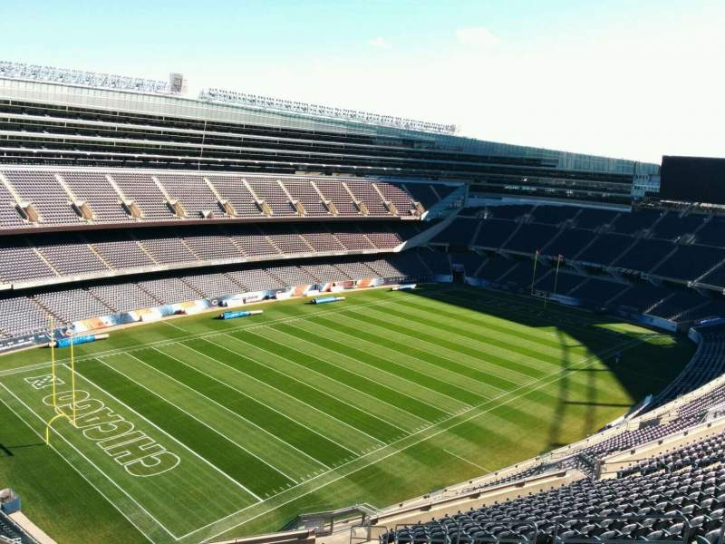 Seating view for Soldier Field Section 444 Row 19 Seat 10
