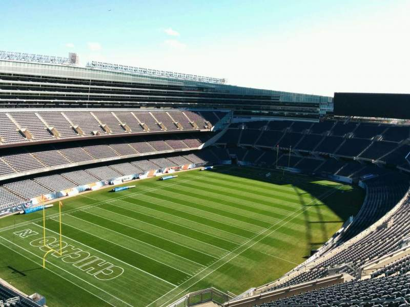 Seating view for Soldier Field Section 445 Row 19 Seat 10