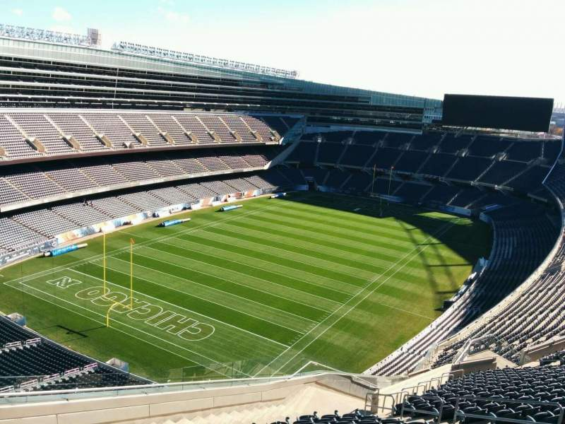 Seating view for Soldier Field Section 446 Row 19 Seat 10