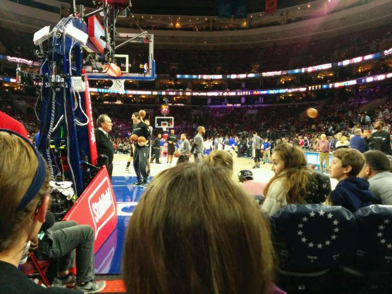 Seating view for Wells Fargo Center Section 120 Row b Seat 2