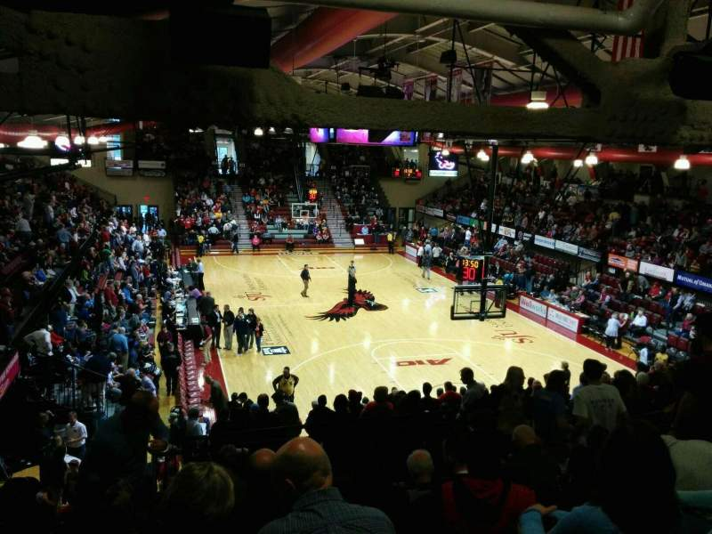 Seating view for Hagan Arena Section 218 Row 10 Seat 8