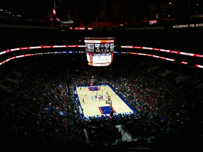 Seating view for Wells Fargo Center Section 206 Row 12 Seat 14