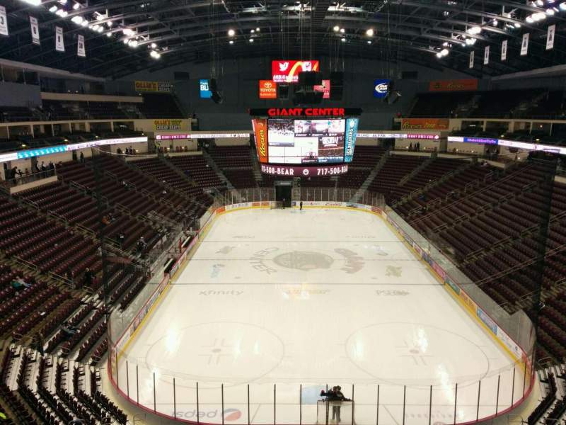 Seating view for Giant Center Section 226 Row 1 Seat 3