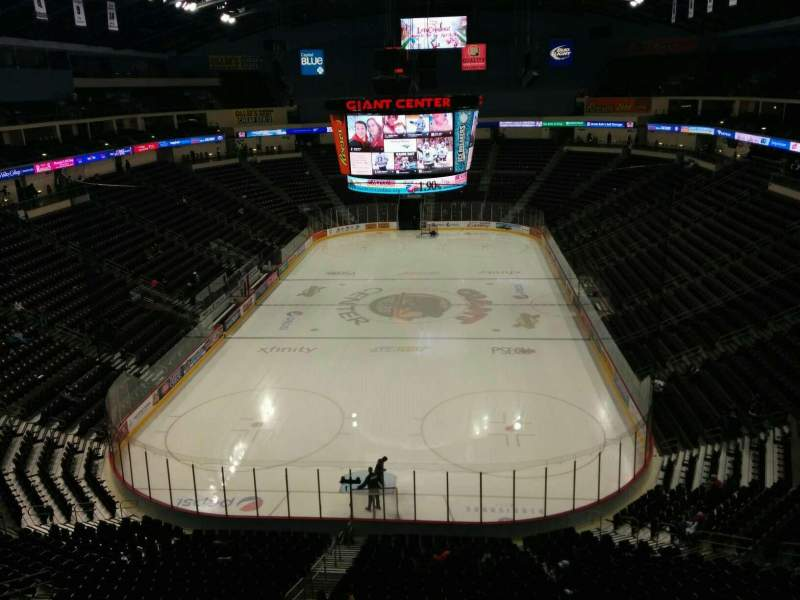 Seating view for Giant Center Section 201 Row 6 Seat 7